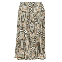 Clothing Women Skirts MICHAEL Michael Kors MEDALLION PLTED SKIRT Multicolour