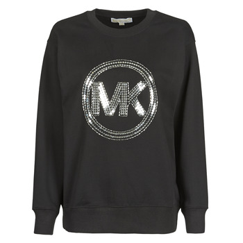 Clothing Women Sweaters MICHAEL Michael Kors MK CRCL CLSC SWTSHRT Black