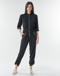 Clothing Women Jumpsuits / Dungarees MICHAEL Michael Kors SPORTY ZIP JUMPSUIT Black