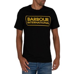 Clothing Men T-shirts & Polo shirts Barbour Essential Large Logo T-Shirt black