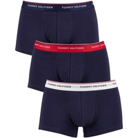 Underwear Men Boxer shorts Tommy Hilfiger 3 Pack Premium Essentials Low Rise Trunks blue