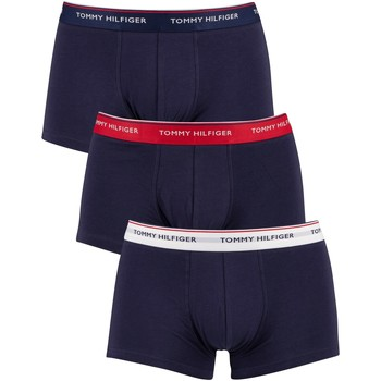 Underwear Men Boxer shorts Tommy Hilfiger 3 Pack Premium Essentials Low Rise Trunks blue