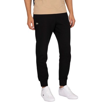Clothing Men Tracksuit bottoms Lacoste Logo Joggers black