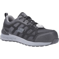 Shoes Women Derby Shoes & Brogues Skechers SK77273EC-3 Bulkln-Lyndale Black W and Gray Trim