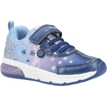 Shoes Girl Low top trainers Geox J028VD-011AJ-C4215 J Spaceclub Girl D Navy and Lilac