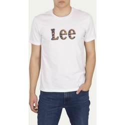Clothing Men Short-sleeved t-shirts Lee T-shirt  Camo Package Bright White blanc/jaune/bleu