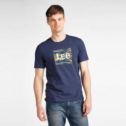 Clothing Men Short-sleeved t-shirts Lee T-shirt  Camo Package Dark Navy bleu marine/jaune/blanc