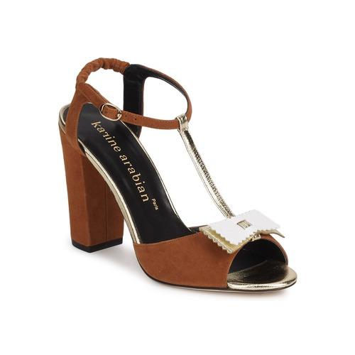 Shoes Women Sandals Karine Arabian ABBAZIA Sable / White / Gold