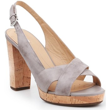 Shoes Women Sandals Geox D Mauvelle C D724LC-000LC-C1010 grey