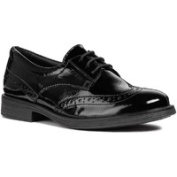 Shoes Girl Brogues Geox J8449D-00067-C9999-33 J Agata D Black Patent