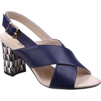 Shoes Women Sandals Riva Di Mare Budino Leather Navy