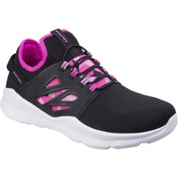 Shoes Girl Low top trainers Skechers 81990L SK81990L Skech Street Squad Prance Black and Hot Pink