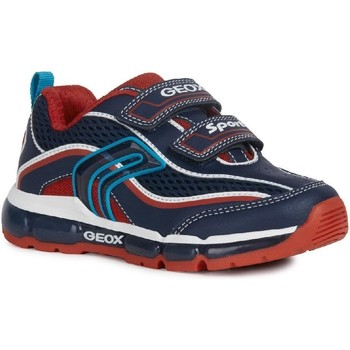 Shoes Boy Low top trainers Geox J0244C-014BU-C0735 J Android Boy C Navy and Red
