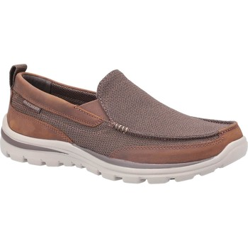 Shoes Men Loafers Skechers SK64365-BRN-6 Superior Milford Brown