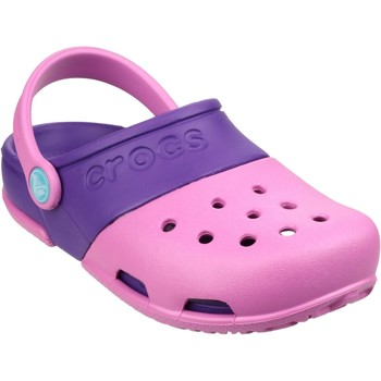 Shoes Children Clogs Crocs Electro II Clog Party Pink and Neon Purple