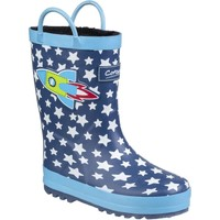 Shoes Boy Wellington boots Cotswold Sprinkle Dark Blue & White