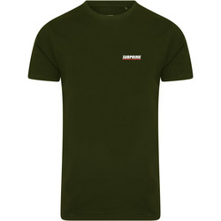 Clothing Men short-sleeved t-shirts Subprime Shirt Chest Logo Army Green