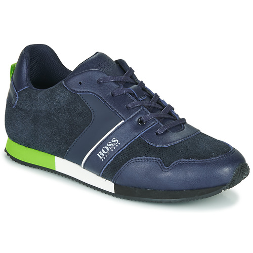 Shoes Boy Low top trainers BOSS J29225 Blue