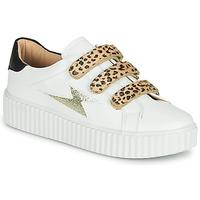 Shoes Women Low top trainers Vanessa Wu BASKETS À SCRATCHS ANIMALIER White / Leopard