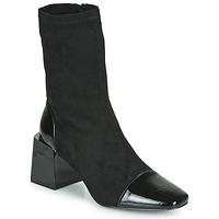 Shoes Women Ankle boots Vanessa Wu BOTTINES CHAUSSETTES À TALON BLOC Black
