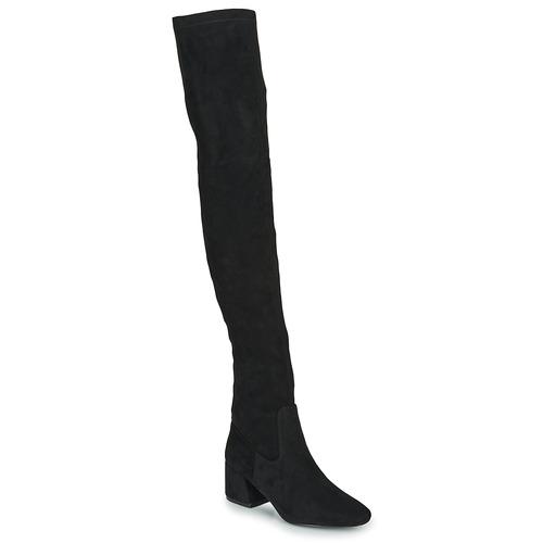 Shoes Women Thigh boots Vanessa Wu CUISSARDES HAUTES Black