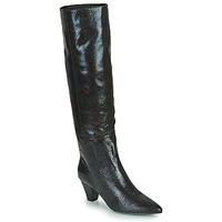 Shoes Women High boots Vanessa Wu BOTTES SERPENT À TALON CUBAIN Black