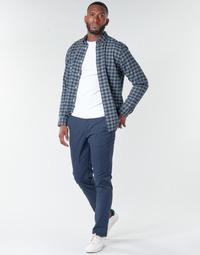 Clothing Men Chinos Selected SLHNEW PARIS Marine