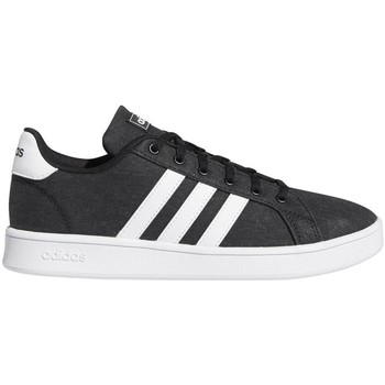 Shoes Children Low top trainers adidas Originals Grand Court K White,Black