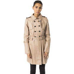 Clothing Women Trench coats Byblos Blu Coat Brown  Woman Brown