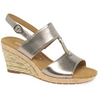 Shoes Women Sandals Gabor Keira Womens Wedge Heel Sandals gold