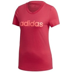 Clothing Women short-sleeved t-shirts adidas Originals W E Lin Slim T Red