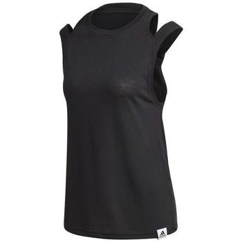 Clothing Women Tops / Sleeveless T-shirts adidas Originals W BB TK Black