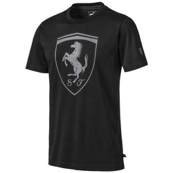 Clothing Men Short-sleeved t-shirts Puma Ferrari Big Shield Tee Black