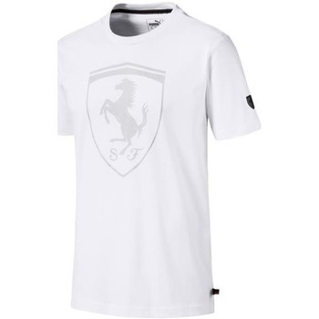 Clothing Men Short-sleeved t-shirts Puma Ferrari Big Shield Tee White