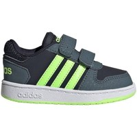 Shoes Children Low top trainers adidas Originals Hoops 20 Cmf I Graphite,Grey,Navy blue