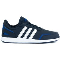 Shoes Children Low top trainers adidas Originals VS Switch 3 K White,Blue,Navy blue