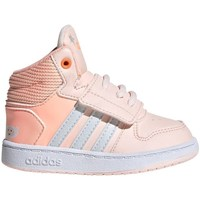 Shoes Girl Hi top trainers adidas Originals Hoops Mid 20 I Orange,Pink