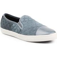 Shoes Women Slip-ons Geox D Nclub Grey, Silver