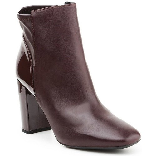 Shoes Women Ankle boots Geox D Nsymphony HC Burgundy