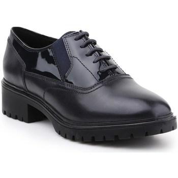 Shoes Women Derby Shoes Geox D Peaceful Black