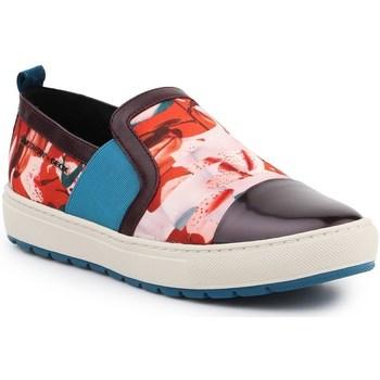 Shoes Women Slip-ons Geox D Breeda Red, Blue, Brown