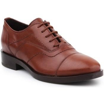 Shoes Women Derby Shoes Geox D Brogue G Brown