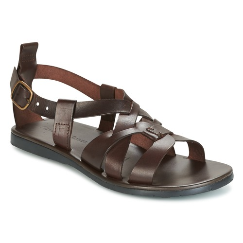 Shoes Men Sandals Dream in Green QUESELLE Brown