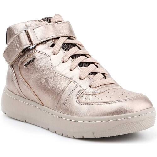 Shoes Women Hi top trainers Geox D Nimat A D540PA-000KY-CB5Q6 gold