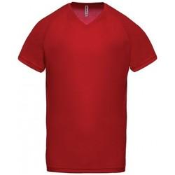 Clothing Men Short-sleeved t-shirts Proact T-Shirt Col V  Sport rouge