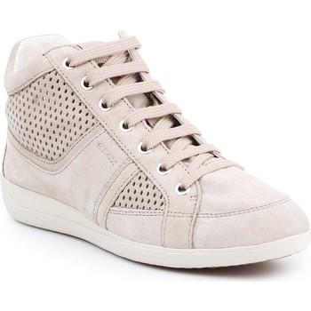 Shoes Women Hi top trainers Geox D Myria B D7268B-07722-C6738 beige