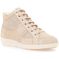 Shoes Women Hi top trainers Geox Myria Beige