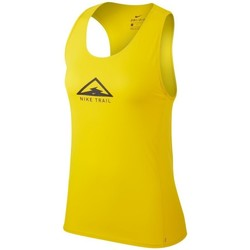 Clothing Women Tops / Sleeveless T-shirts Nike City Sleek Yellow