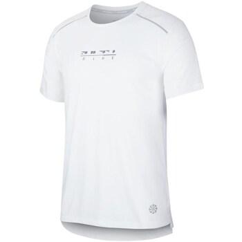 Clothing Men Short-sleeved t-shirts Nike Rise 365 White