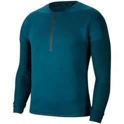 Clothing Men Long sleeved tee-shirts Nike Tech Pack Navy blue, Celadon, Turquoise
